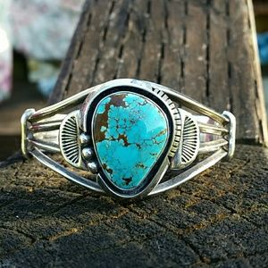 Native American Turquoise Sterling Silver Bracele